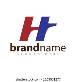 ht initial letter logo icon vector