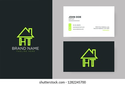 HT Letter Real Estate Logo Design - Real estate logo.