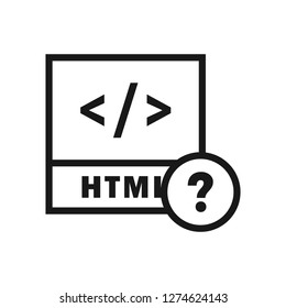 HTML File Help icon