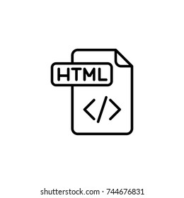 html icon, html icon vector, in trendy flat style isolated on white background. html icon image, html icon illustration