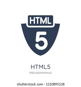 Html5 icon. Trendy flat vector Html5 icon on white background from Programming collection, vector illustration can be use for web and mobile, eps10
