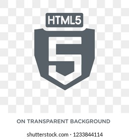 HTML5 icon. Trendy flat vector HTML5 icon on transparent background from Technology collection.