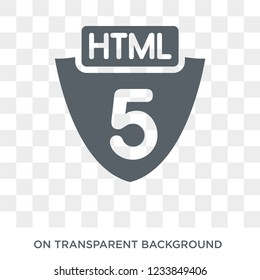 Html5 icon. Trendy flat vector Html5 icon on transparent background from Programming collection.