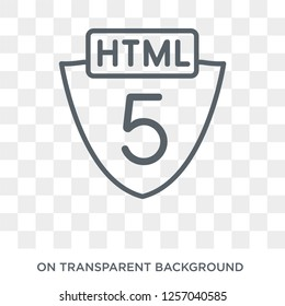 Html5 icon. Trendy flat vector Html5 icon on transparent background from Programming collection. High quality filled Html5 symbol use for web and mobile