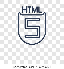 HTML5 icon. Trendy HTML5 logo concept on transparent background from Technology collection