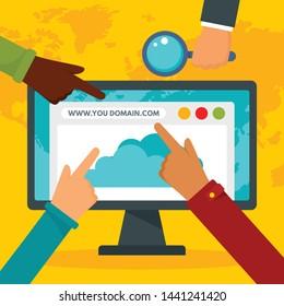 http domain concept background. Flat illustration of http domain vector concept background for web design
