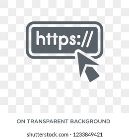 Http icon. Trendy flat vector Http icon on transparent background from Programming collection.
