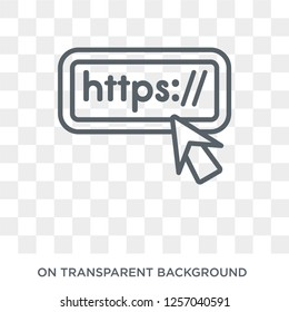 Http icon. Trendy flat vector Http icon on transparent background from Programming collection. High quality filled Http symbol use for web and mobile