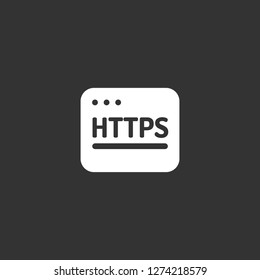 http icon vector. http vector graphic illustration