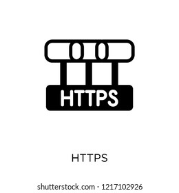 Https icon. Https symbol design from Internet security collection. Simple element vector illustration on white background.