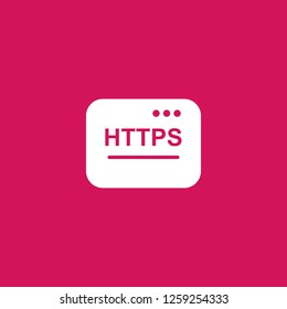 https icon vector. https sign on pink background. https icon for web and app