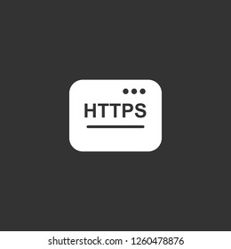 https icon vector. https sign on black background. https icon for web and app