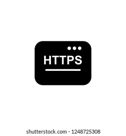 https vector icon. https sign on white background. https icon for web and app