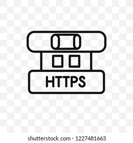 Https vector linear icon isolated on transparent background, Https transparency concept can be used for web and mobile