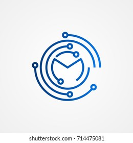 hub connection logo icon vector illustration design template