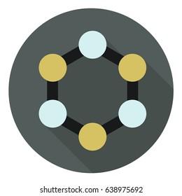 hub flat icon