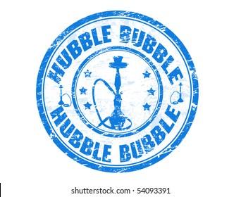 Hubble Bubble grunge stamp