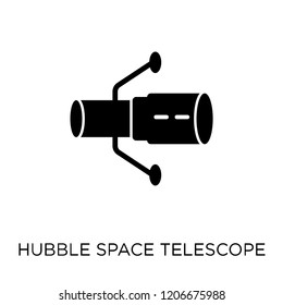 Hubble space telescope icon. Hubble space telescope symbol design from Astronomy collection.