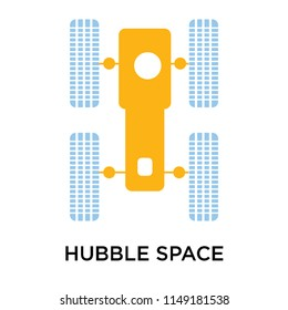 Hubble space telescope icon vector isolated on white background for your web and mobile app design, Hubble space telescope logo concept