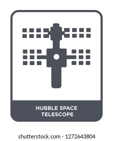 hubble space telescope icon vector on white background, hubble space telescope trendy filled icons from Astronomy collection, hubble space telescope simple element illustration