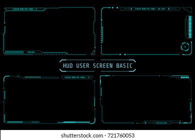 HUD Abstract Futuristic Element User Screen Monitor Panel Vector