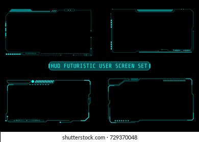 HUD Abstract Futuristic Element User Screen Control Inteface Monitor Panel Vector