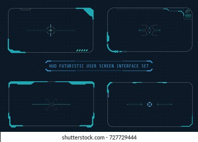 HUD Abstract Futuristic Elements User Screen Interface Vector