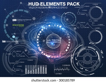HUD background outer space. infographic elements. futuristic user interface. Vector science Polygonal background. Futuristic HUD background. Vector science background. Business abstract