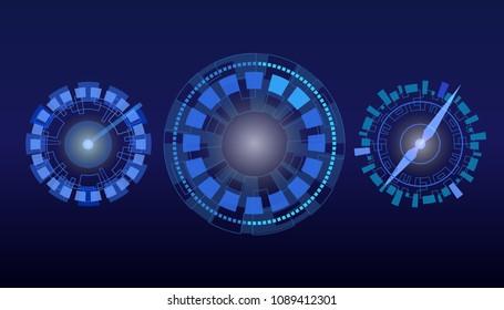 HUD dial, clock, speedometer