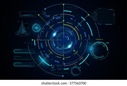 hud futuristic digital hi tech sci fi concept background