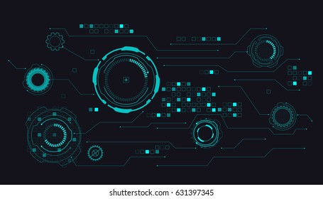 HUD Futuristic Interface Concept Vector Background