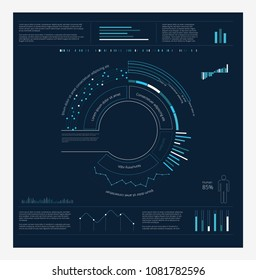 HUD Infographics Circle Vector illustration.