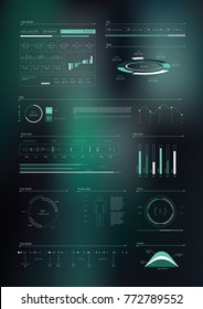 HUD Infographics Elements. Vector illustration.