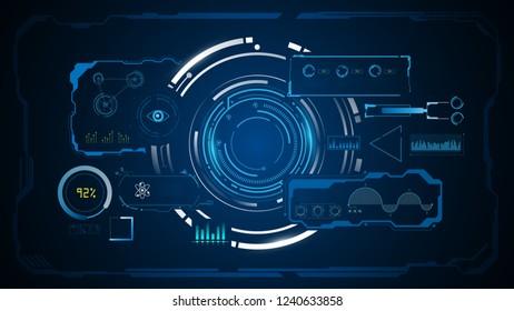 HUD interface GUI sci fi concept design background eps 10 vector