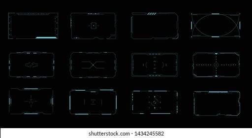 HUD Interface Pack Collection Vector Illustration