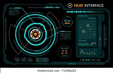 Hud interface. Panel futuristic