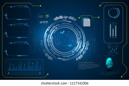 hud interface ui template cyber innovative concept background eps 10 vector