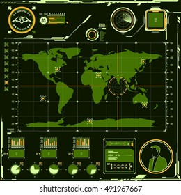 HUD navigation map screen elements.