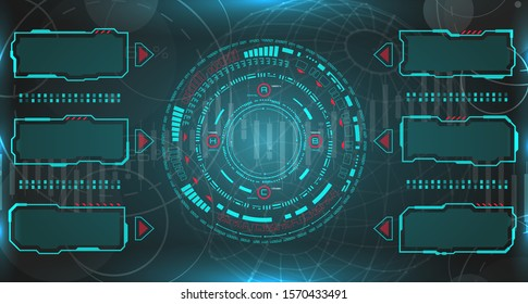 HUD UI Futuristic and Infographic Elements. Technology Background