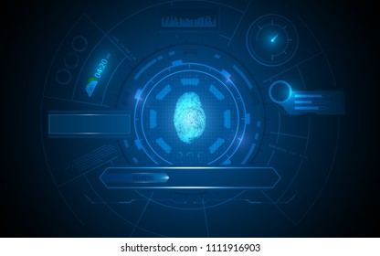 hud ui interface artificial intelligence template concept background eps 10 vector