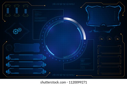 hud ui template virtual system interface sci fi concept eps 10 vector