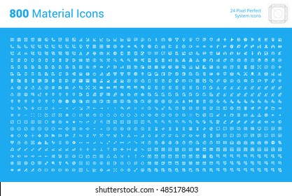 HUGE bundle of material design icons. Pixel perfect thin line icons for app development, for business, technology, networking, communication, e-commerce, mobile services, action and settings.