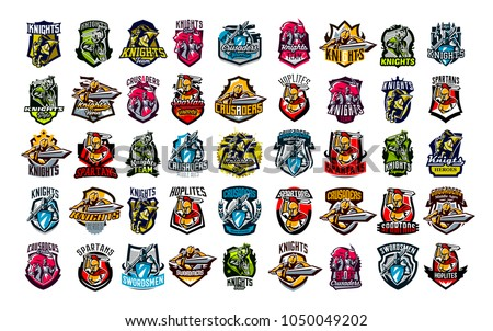 vetor stock de huge colorful collection emblems logos badges livre