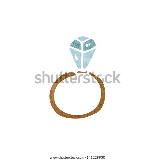 Huge Diamond Ring Cartoon Stock Vector Royalty Free 141229930