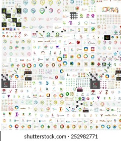 Huge mega collection of company logo business icons