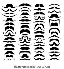 Huge set of vector mustache.