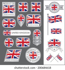 A huge vector collection of British flags in multiple different styles. In total there are 17 unique treatments that will be useful for a variety of applications.