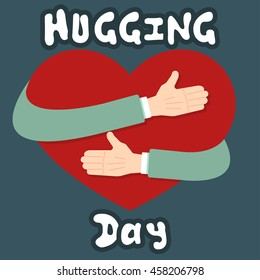 Hugging Day International Holiday Greeting Card