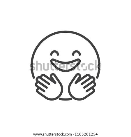 Hug text emoticon