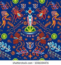 huichol pattern mexican oaxaca